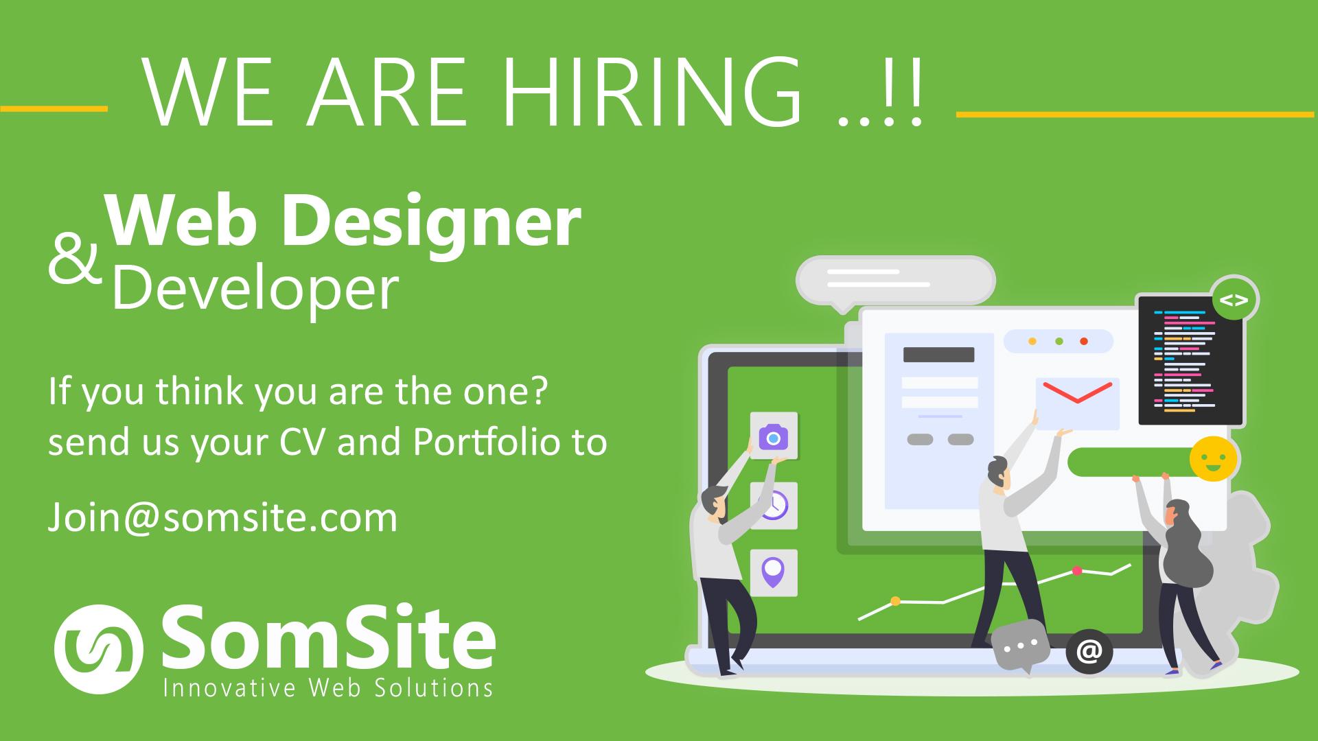 SomSite Job Opportunity: Web Designer