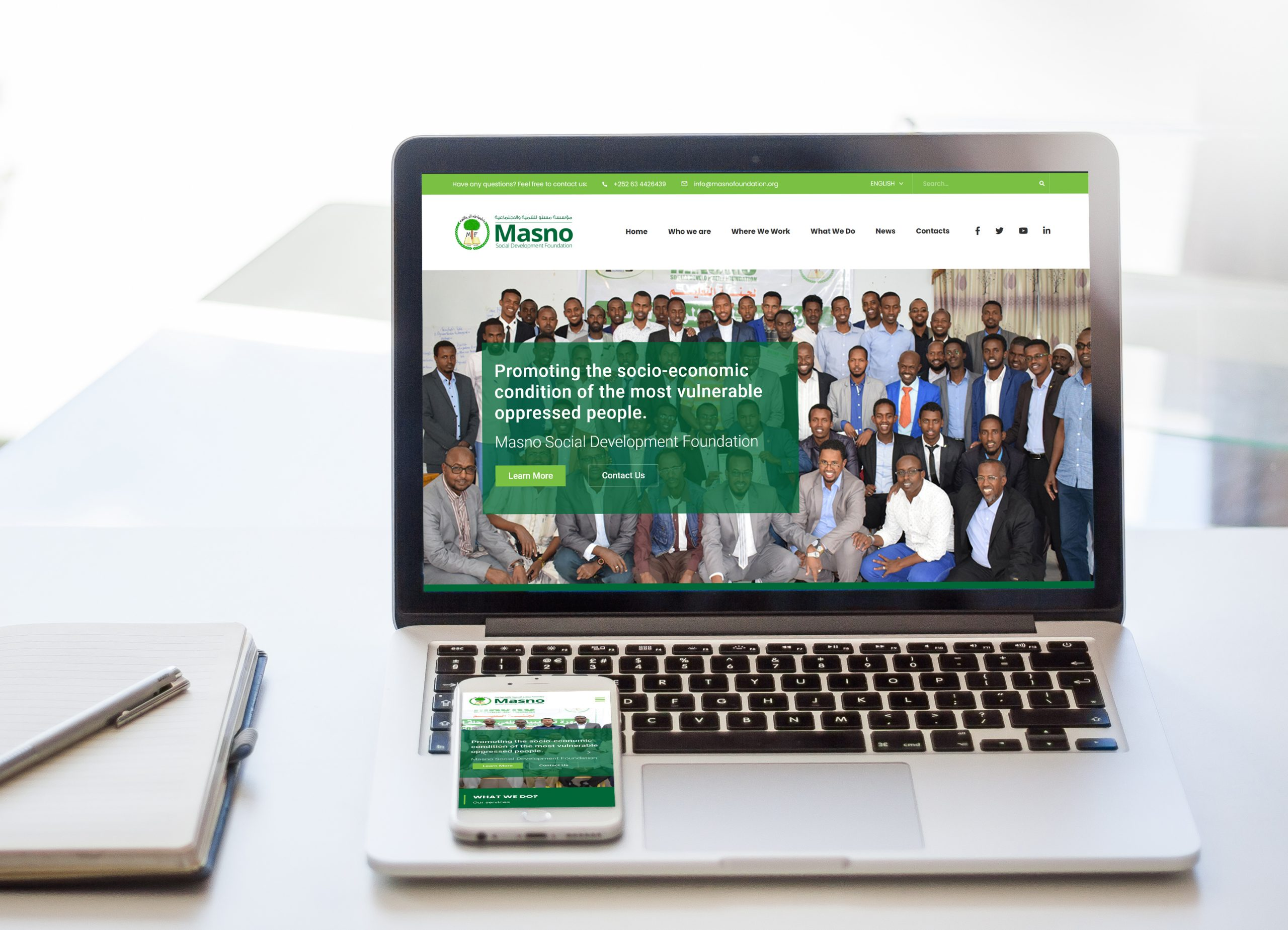 Masno Foundation Website Designed by SomSite