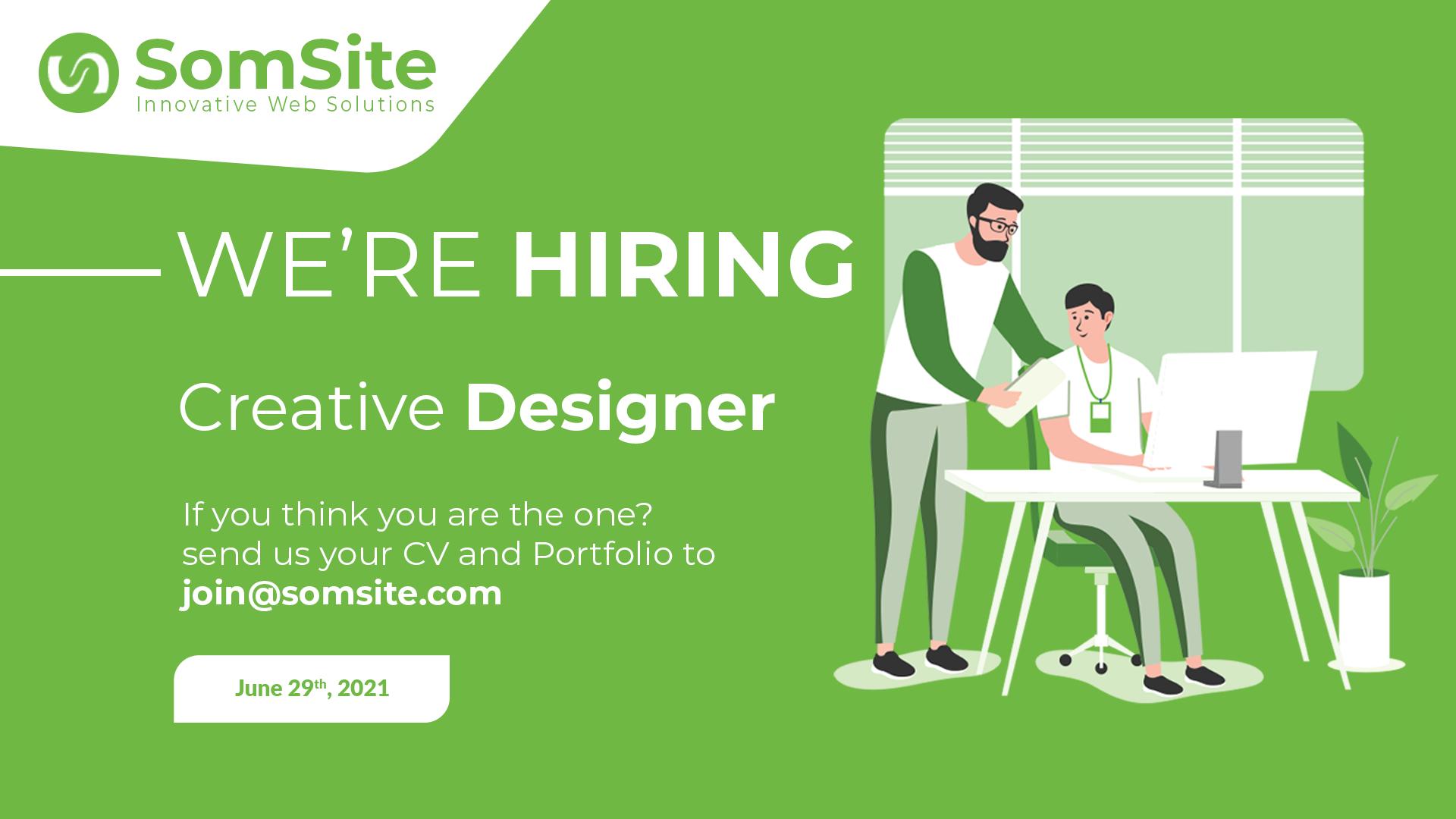Job Opportunity: Creative Designer